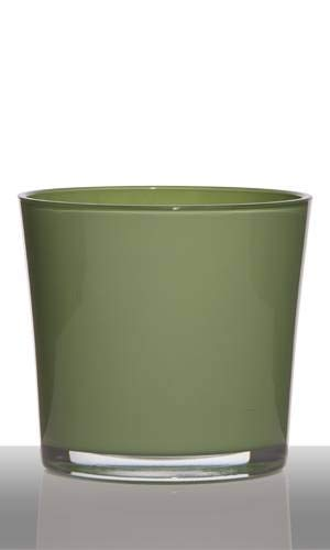 INNA-Glas Set 6 x Maceta - Tiesto de Cristal Alena, cilíndrica/Redonda, Verde...