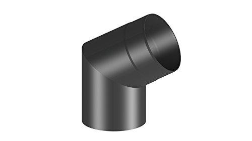 Ofenrohr Winkel 60° ohne Tür; 150mm Durchmesser, schwarz