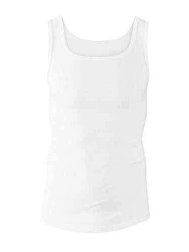 Calida Herren Athletic-Shirt Evolution Unterhemd, Weiß, 56