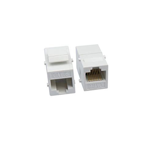 QiCheng&LYS Cat6 Flaches LAN-Verlängerungskabel, LAN-Netzwerkstecker, Dual Purpose, LAN-Jumper Female to Female Adapter -2PCS