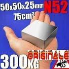 Imante paralela magnética NéODYME N45 50 x 50 x 25 mm – 100 kg – NICKELÉ