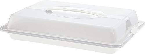 Rotho John Partybutler mit Haube und Griff, Kunststoff (PP) BPA-frei, weiss/transparent, (43,5 x 29,5 x 9,0 cm)