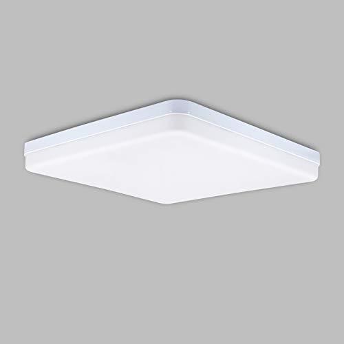 LED Deckenleuchte 36W Kaltweiß Quadrat,Hoshurly Super Helligkeit Einfache Installation Deckenlampe 3240LM 6500K Lampen für Schlafzimmer, Kinderzimmer, Küche, Balkon, Korridor