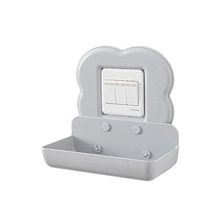 HOBEKOK Soporte para Teléfono Móvil Autoadhesivo Montado en la Pared Carga Teléfonos Inteligentes Adecuado el Hogar y Oficina,Gray