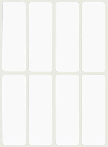 Royal Green White Labels Stickers 1 x 3 inch, writable Rectangle Label for File Folder tabs - 120 Pack