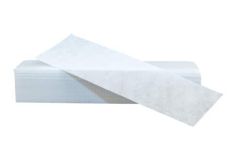 Vliesstreifen [100 Stück], Studioqualität, PREMIUM Wachsstreifen, Verbessertes Konzept 2020, für die Enthaarung mit Warmwachs und Zuckerpaste