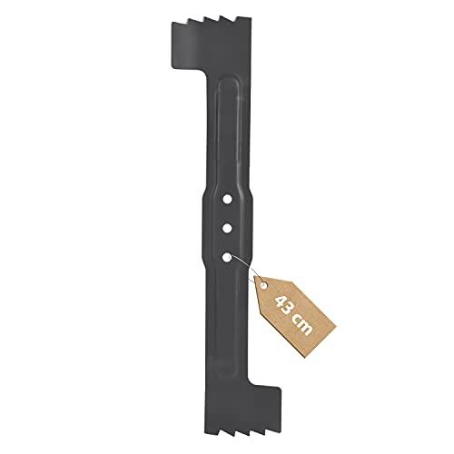 Ersatzmesser Klinge 43cm Ersatz für Bosch F016800368/F016800274 Geschärftes Messer Rasenmähermesser Ersatzteile Zubehör für Mähroboter/Rasenmäher Rotak 43