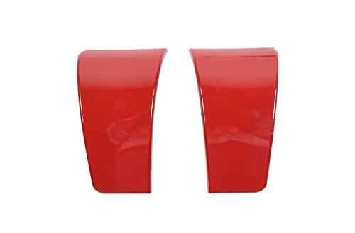 Garniture de Volant Compatible avec Dodge Challenger 2010-2021 Seat Safety Ceinture Boucle de Couverture décorative Sticker Sticker ABS Carbon Fibre de Voiture Accessoires intérieurs