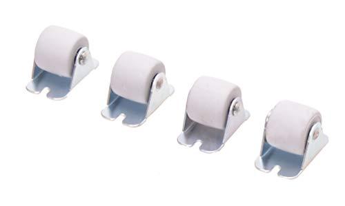 4 ruedas para muebles y cajones (30 mm)