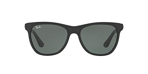 Ray-Ban RB4184 Square Sunglasses, Black/Green, 54 mm