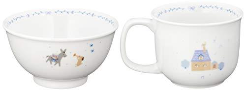 NARUMI(ナルミ)幼児用食器セットまんてんセットブレーメンブルー9点セット電子レンジ対応日本製7980-33301