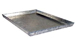 Everila 36Lx24W Dog Crate Replacement Tray Galvanized Steel Heavy Duty Metal Pan Floor Size: 35.5Lx23.5Wx1H