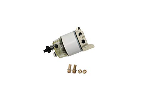 Marine R12T Fuel Filter Water Separator Kit - 120AT NPT ZG1/4-19 - Replaces S3240, 18-7947, 187947, 17670-ZW1-030GH, 99105-20006, 9-37812, 120R-RAC01, 120R-RAC02 Assembly - Diesel, Gas Engines