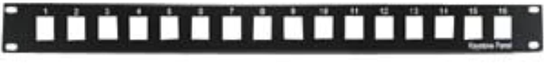 "InstallerParts 1U 19"" 16Port Blank Panel for Keystone Jack"