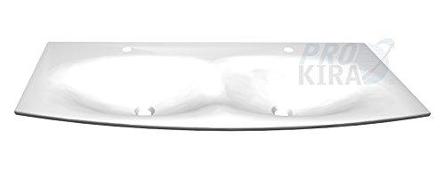 PELIPAL Solitaire 7025 Minerlmarmor-Doppelwaschtisch, Weiß/MMDWTR 68-1220 / B: 122 cm