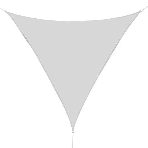Outsunny Voile d'ombrage Triangulaire Grande Taille 6 x 6 x 6 m Polyester imperméabilisé Haute densité 160 g/m² Gris Clair