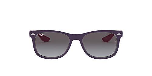 Ray-Ban unisex child Rj9052s New Wayfarer Sunglasses, Violet/Grey Gradient Dark Grey, 48 mm US