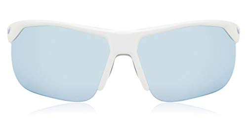 Nike Occhiali da sole unisex EV1064 144 63 White Light Blue Mirror Size 63mm