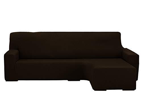 Martina Home Protection canapé avec Chaise Longue élastique Beirut, Marron, Bras Droit Court de 240 à 280 cm