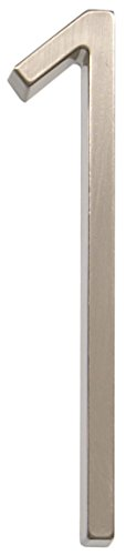 Distinctions 843211 Brushed Nickel Floating Mount 5-Inch House Number 1