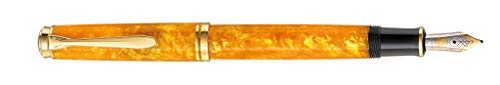 Pelikan 809443 Special Edition Kolbenfüllhalter M600 Vibrant Orange, Feder M