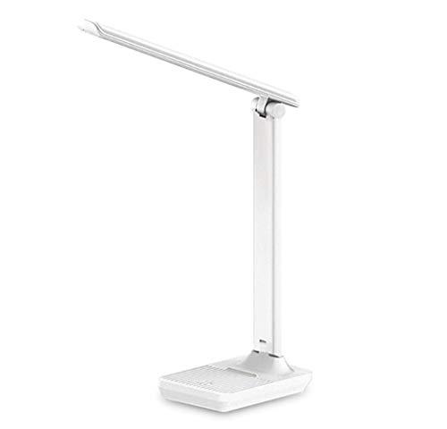Multifunción Cuero de la lámpara de escritorio de la lámpara LED recargable de 1200mAh 3 luces de color regulable Brillo titular del teléfono de cuero Base de la lámpara Tabla Finalizar Fácil de carga