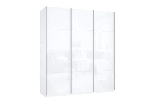 Prime 3030 Schwebetürenschrank komplette Glasfront 180x210 cm