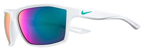 Nike Legend Rectangular Sunglasses, White Fade/Clear Jade, 60 mm