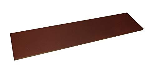 scherenkauf XXL Lederabziehriemen, Abziehleder 30cm x 7cm (Leder Natur, XXL mit rotem Eisenoxid behandelt)