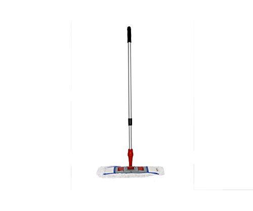 CleanSV® Mopp Set 3 teilig 50 cm Baumwollmop plus Mophalter und Teleskopstiehl