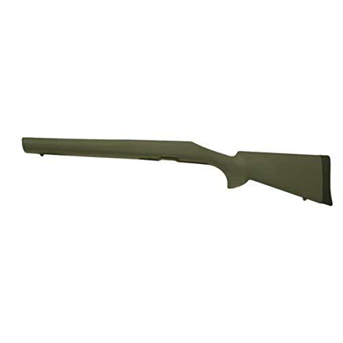 Hogue 70232 Remington 700 BDL Short Action OverMolded Stock Heavy Barrel, Detachable Magazine, Full Bed Block Olive Drab Green