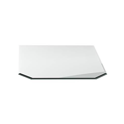 Vonkenwerende plaat G8 zeshoekig ESG 6mm x 1200mm x 1000mm met 18mm facet glasplaat bodemplaat schoorsteenplaat vonkenbescherming ovenplaat open haard glas