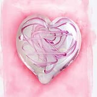 Glass Eye Studio Limited Edition Tickled Pink Heart Paperweight