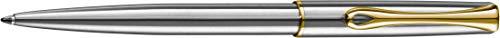 DIPLOMAT - Kugelschreiber Traveller Edelstahl vergoldet easyFlow - Schick und elegant - Langlebig - Edelstahl vergoldet