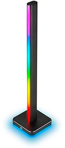 Corsair iCUE LT100 Smart Lighting Tower Erweiterungskit (Eine 422 mm Große Lichtsäulen mit Jeweils 46 Anpassbaren LEDs, Integrierte Lichtstreuung, Abnehmbare Headset-Halterung) Schwarz