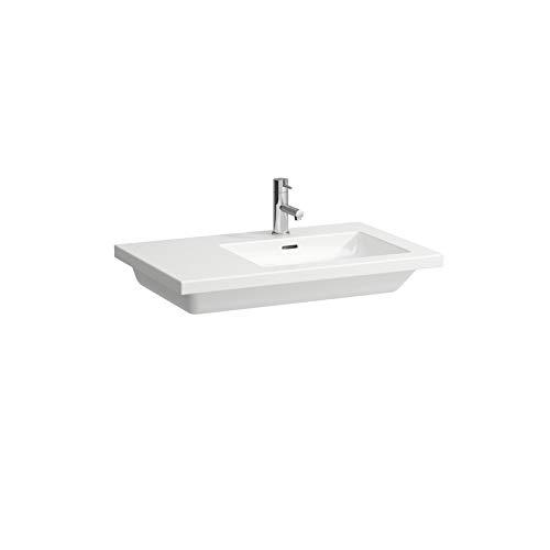 Laufen Living Square Waschtisch, asymmetrisch, Ablage Links, 1 Hahnloch, mit Überlauf, 750x480, weiß