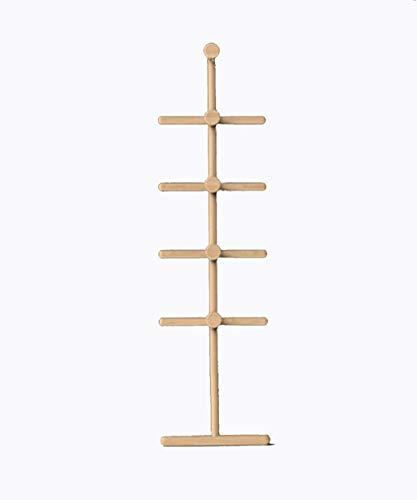 Kapstok Vloerstaande Coat kapstok Solid Wood Ladder Stay, 2 kleuren 160cm Lengte beschikbaar Multi-Purpose hangers (Color : Wood Color)