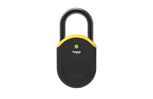 Tapplock lite Fingerprint Bluetooth Biometric Keyless Smart Padlock (Electric Yellow)