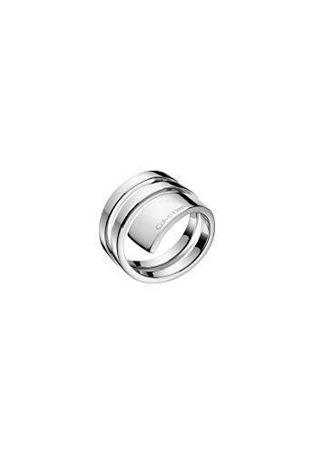 Calvin Klein Damen-Damenring Edelstahl 51 Silber 32004366