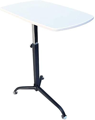 WSHFHDLC Mesa de centro Mesas de noche para espacios pequeños, bandeja de mesa de ordenador portátil con patas de altura ajustable, soporte de lectura para sofá, suelo, mesas de café pequeñas