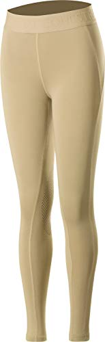 HORZE Kid's Madison Knee Patch Tights - Silicone Grip