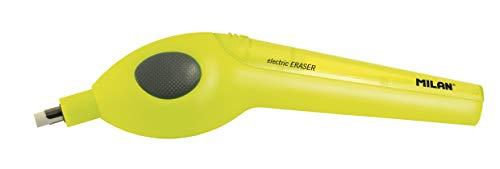 Borrador eléctrico amarillo + pilas + gomas de recambio NUEVO