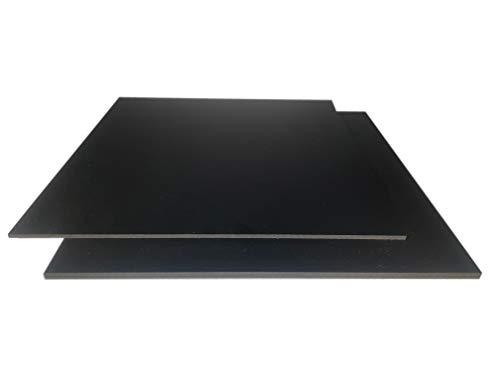3-5mm PVC Hartschaumplatte schwarz 500x500x3mm