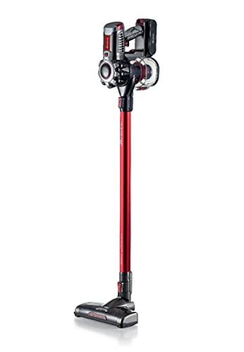 Ariete 22V Lithium 2757, Scopa Elettrica Cordless e Aspirabriciole, Alluminio, Rosso, 120 W, 1 Liter