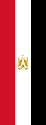magFlags Flagge: Ägypten | Hochformat Fahne | 6m² | 400x150cm » Fahne 100% Made in Germany