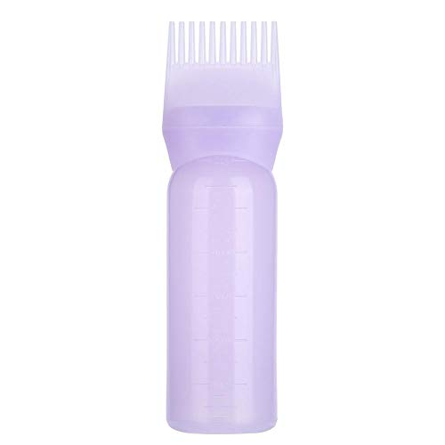 3 kleuren haarverf flessenborstel shampoo haarkleur olie kam applicator tool lichtweght (paars)