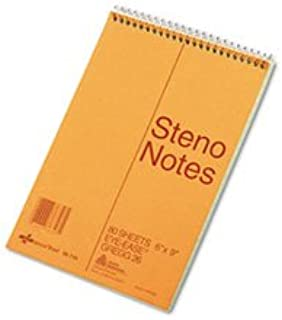 9 x 6 Inch 60 Sheets Pack of 6 SKILCRAFT 7530-01-600-2029 100 Percent Recycled PCW Steno Book