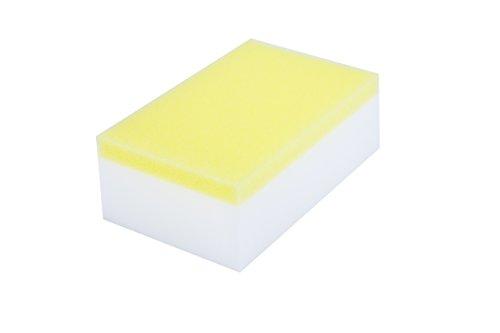 LTWHOME Magique Nettoyant Gomme Eponge Mélamine Mousse, Double Côté Nettoyant Composé Eponge 110 X 70 X 40mm (Paquet de 60)