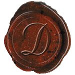 Authentic Models MG200D Classic Alphabet Initial Wax Seal Stamp Letter D