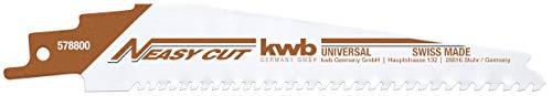 kwb 578800 578800-Lama per Sega a sciabola Easy Cut con Codolo, Utilizzabile per Tutti i Materiali da Costruzione, Universale
